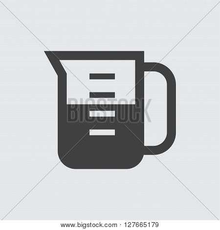 Measuring cup icon illustration isolated vector sign symbol