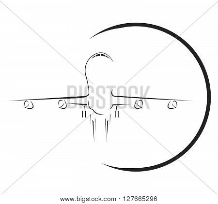 aeroplane Symbol .eps10 editable vector illustration design