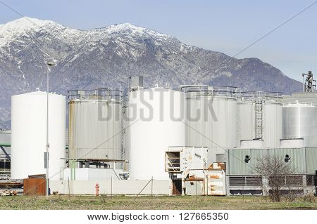 Silos Of A Chemical Plant.