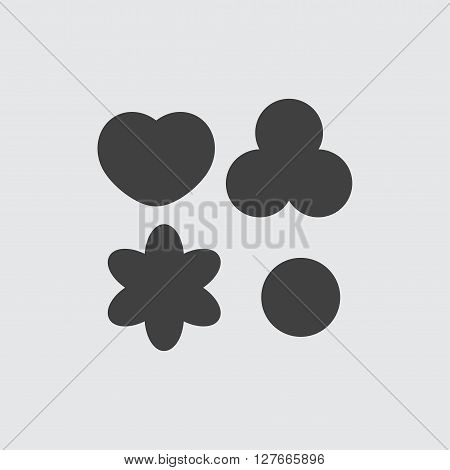 Cookie icon illustration isolated vector sign symbol