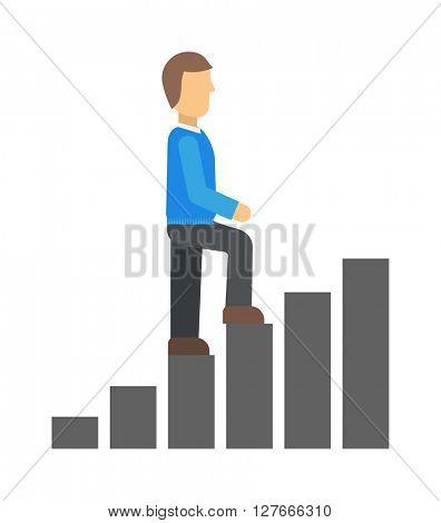 Career track vector illustration.