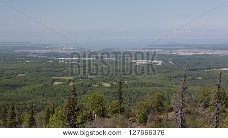 Landscape view of the city of Anchorage, Alaska