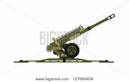 Air defense gun vector illustration.