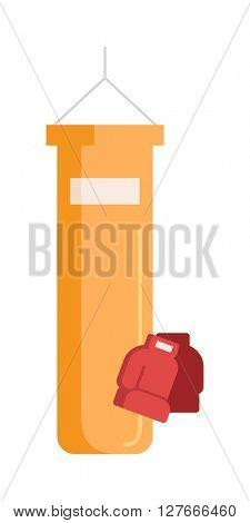 Boxing tools vector illustration.