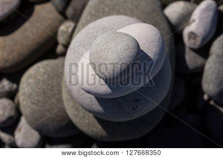 Zen Balancing Pebbles Misty Stone