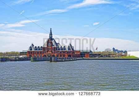 Central Railroad Of New Jersey Terminal On Hudson River