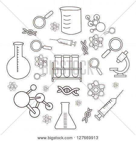 Bio Technology Object Hand Drawn Sketch Doodle.eps10 editable vector illustration design