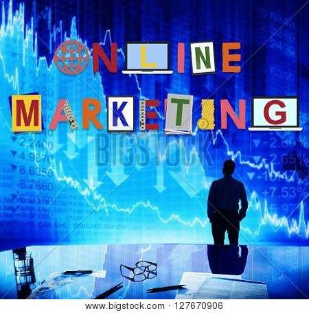 Online Marketing Graphics Word Design Concept