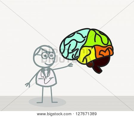 Pshychology Doctor .eps10 editable vector illustration design