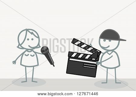 Take Video Shooting.eps10 editable vector illustration design