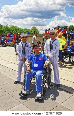 War Veterans At Lincoln Memorial Washington