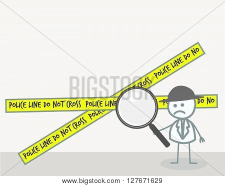 Detective Investigation .eps10 editable vector illustration design