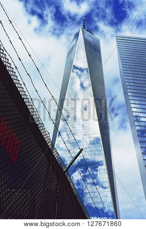 One World Trade Center And Inscription