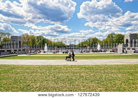 War Veterans In National World War 2 Memorial