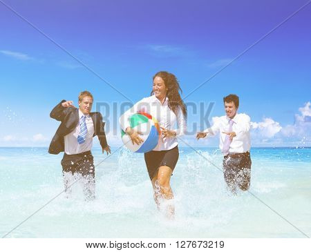 Business People Having Fun Vacation Concept
