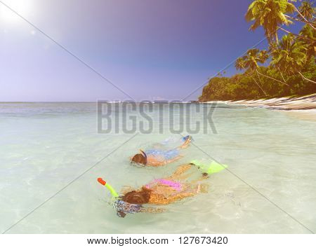 Couple Snorkeling Concept