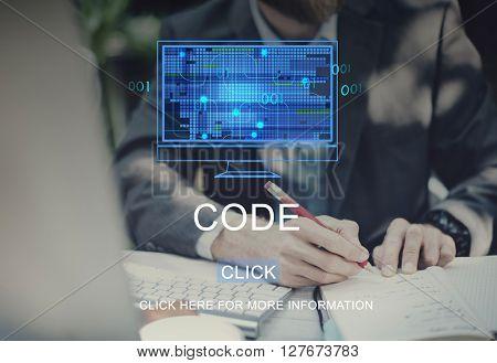 Code Technology Computing Data Digital Concept
