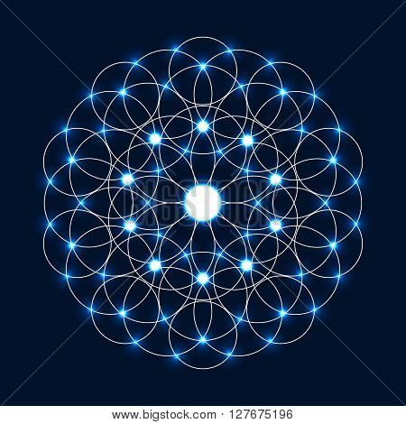 Sparkle Flower Of Life