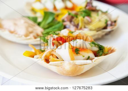 Appetizer With Seafood