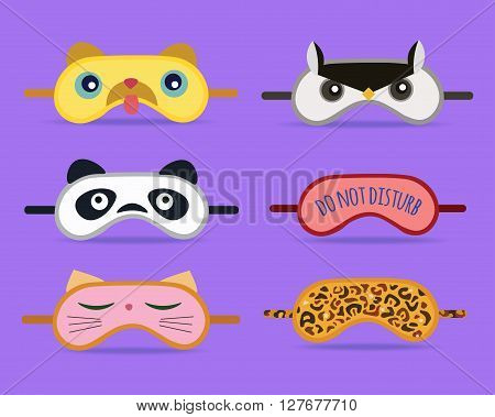 Sleeping masks vector design illustration. eps 10