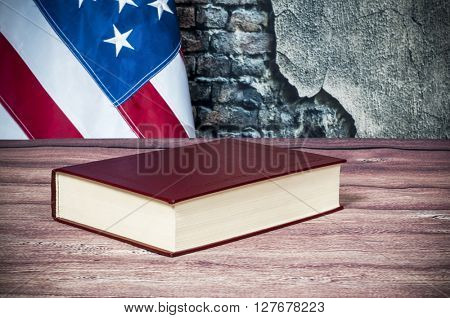 Gavel and USA flag