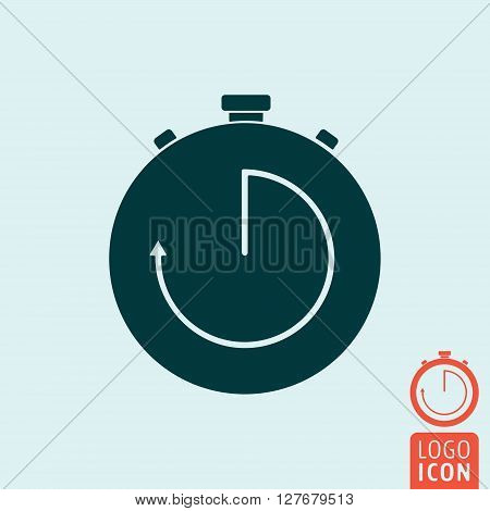 Stopwatch icon. Interval timer symbol. Vector illustration