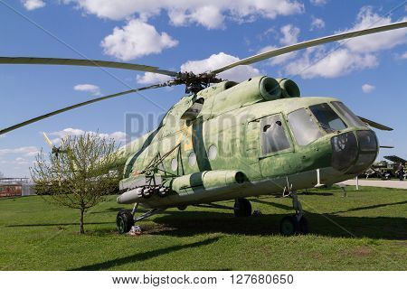 Old Soviet Military Helicopter.