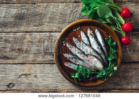 Raw Smelt Fishes