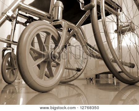 Wheelchair in sepia