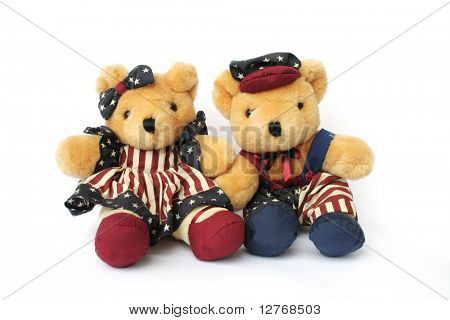 Isolated American Teddy Bears