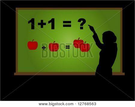 Virtual Classroom (2 of 3) - Teaching ABC; Separate Items, Vector