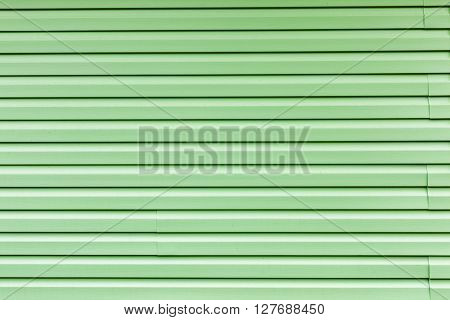 decorative panels on the building. cladding with siding