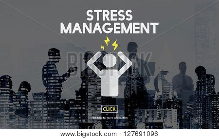 Stress Management Tension Anxiety Strain Rehabilitation Concept