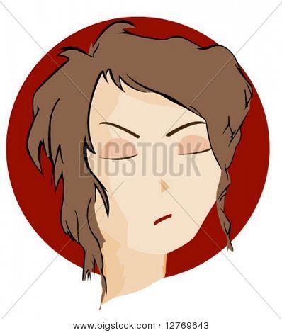 Expressões ícone: virada - vetor