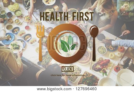 Healthy Eating Vegetarian Healthcare Wellness Website Concept
