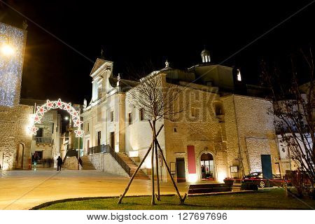 San Nicolas Church in Cisternino (Italy) in the night