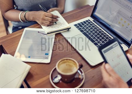 Business Digital Devices Connecting Concept