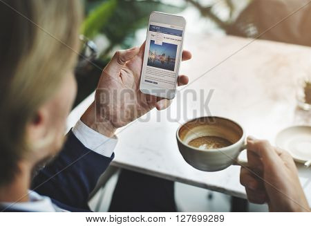 Businessman Relax Coffee Break Concept