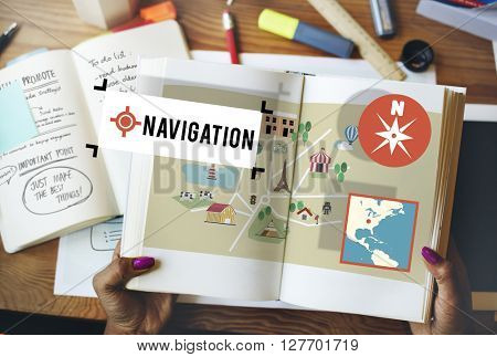 Navigation Location Position Transportation Map Concept