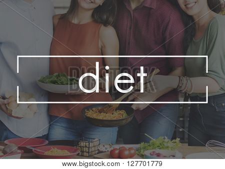 Diet Plan Food Eating Party Celebration Concept