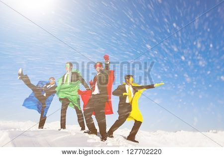 Superhero team of the snow.