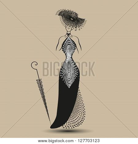 Picture black evening dress