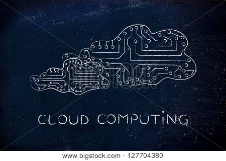 Electronic Circuit Clouds, Concept Of Cloud Computing Storage