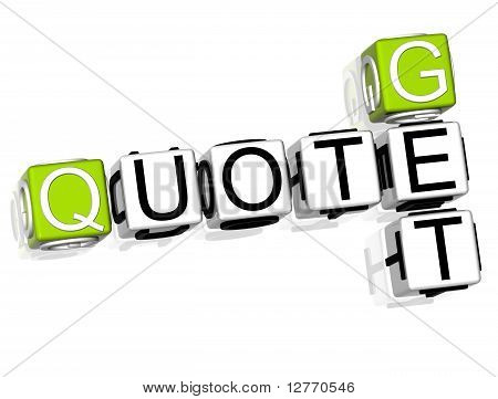 Get Quote Crossword