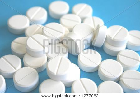 White Pills - Blue Background