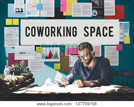 Co-working Space Community Business Start-up Concept