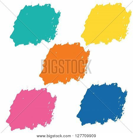 Water color 5 color palette set for use in background or backdrop for use in many work such as sale banner or element abstract vector illustration