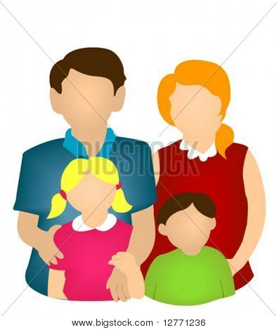 Família ícone - vetor