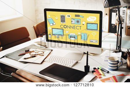 Connect Connection Devices Technology Communication Concept