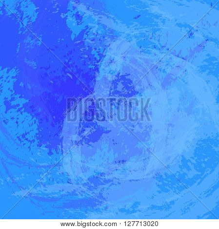 Abstract background. The surface stained with paint. Carelessly painted wall. Vector illustration. Light blue and dark blue colors